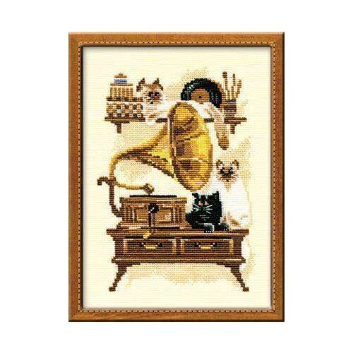 Купить Риолис Набор для вышивания Патефон 18 х 24 см (859), Наборы для вышивания
