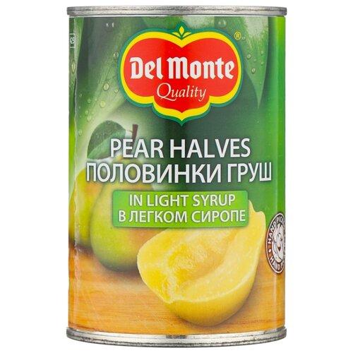 Консервированные груши Del Monte половинки в легком сиропе, жестяная банка 420 г