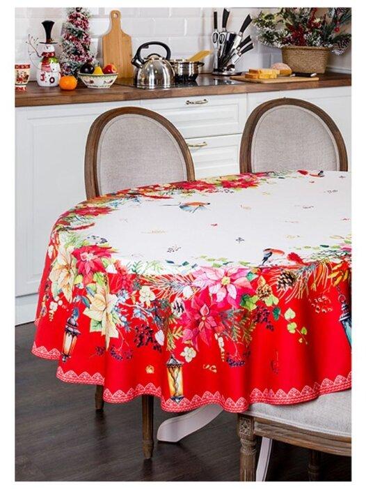 Купить Скатерть овальная Торжество 150х220 Santalino (850-709-22) по низкой цене с доставкой из Яндекс.Маркета (бывший Беру) - Посуда для праздника