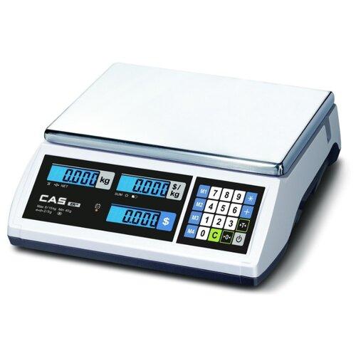 Весы торговые электронные CAS ER JR-15CB весы торговые электронные cas er jr 30cb