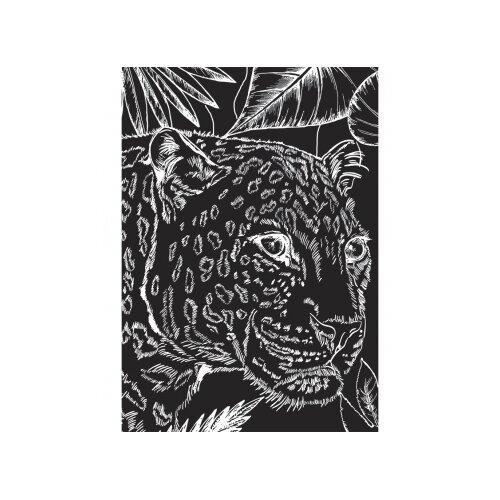 Фото - Гравюра Рыжий кот Красивый леопард, в пакете с ручкой (Г-9417) золотистая основа гравюра рыжий кот зайчик в пакете с ручкой г 9449 цветная основа