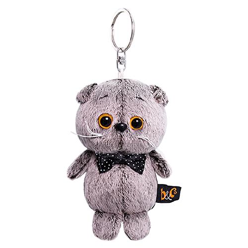 Купить Игрушка-брелок Basik&Co Кот Басик с бантиком 12 см, Мягкие игрушки