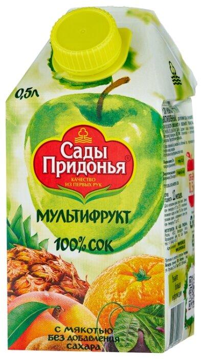 Сок Сады Придонья Мультифрукт, с крышкой, без сахара