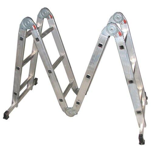 Лестница трансформер 4-секционная Biber 98301 лестница телескопическая biber 98208