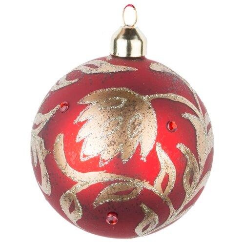 Набор шаров KARLSBACH 08595, красный с золотым узором