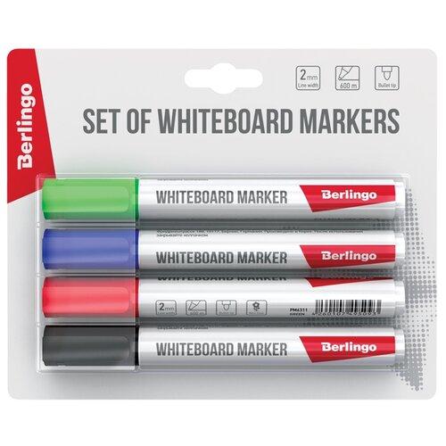 Купить Berlingo Набор маркеров для досок, 4 шт. (BMc_50509), Маркеры