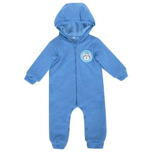 Купить Комбинезон Leader Kids размер 74, синий меланж, Комбинезоны