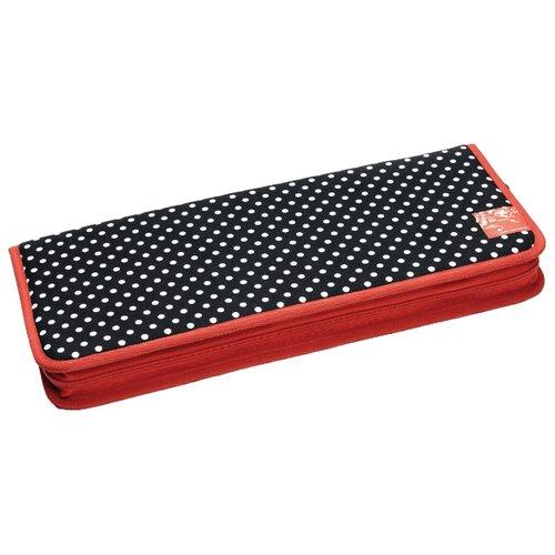 Купить Prym Органайзер для спиц Polka dots (612181) красный/черный/белый, Инструменты и аксессуары
