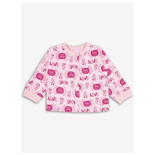 Распашонка Веселый Малыш размер 74, розовый