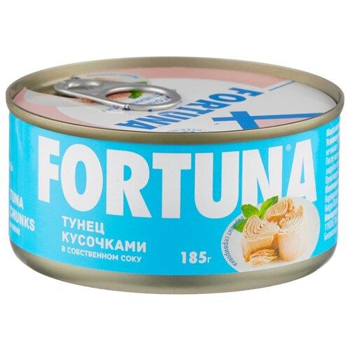 Фото - Fortuna Тунец кусочками в собственном соку, 185 г ocean star тунец филе в собственном соку 185 г
