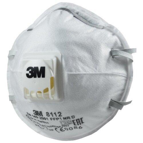 Респиратор 3M 8112 10 шт. белый респиратор зубр 11160 2