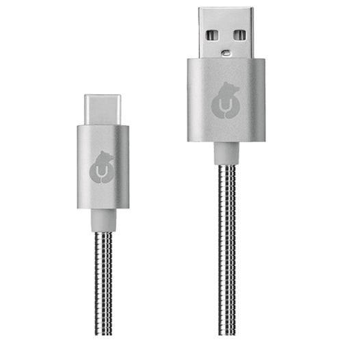 Кабель uBear Force USB - USB-C (DC08) 1.2 м серебристый