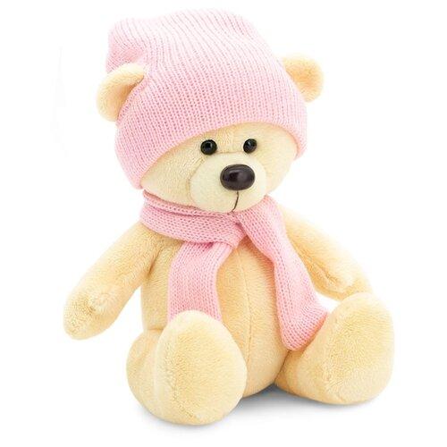 Мягкая игрушка Orange Toys Медведь Топтыжкин желтый в шапке и шарфе 17 см