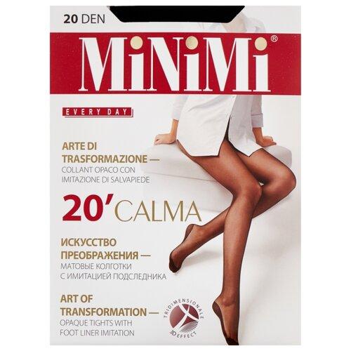 Колготки MiNiMi Calma 20 den, размер 3-M, nero (черный) колготки minimi lanacotone 180 den размер 3 m nero черный