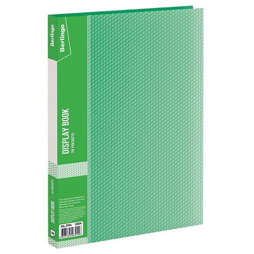 Купить Berlingo Папка с 20 вкладышами Diamond A4, пластик зеленый, Файлы и папки