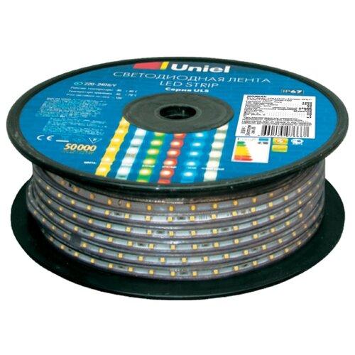 Светодиодная лента Uniel ULS-2835-60LED/m-10mm-IP67-220V-8W/m-50M-BLUE 50 м