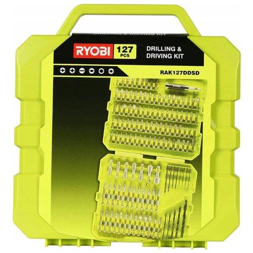 Набор бит и свёрл RYOBI RAK127DDSD, 127 предм., желтый/черный