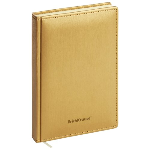 Купить Ежедневник ErichKrause Sideral недатированный, искусственная кожа, А5, 168 листов, золотой, Ежедневники, записные книжки