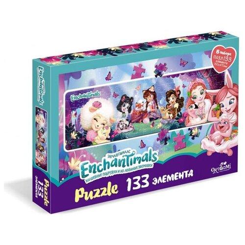 Купить Пазл Origami Enchantimals Новые друзья (5674), 133 дет., Пазлы