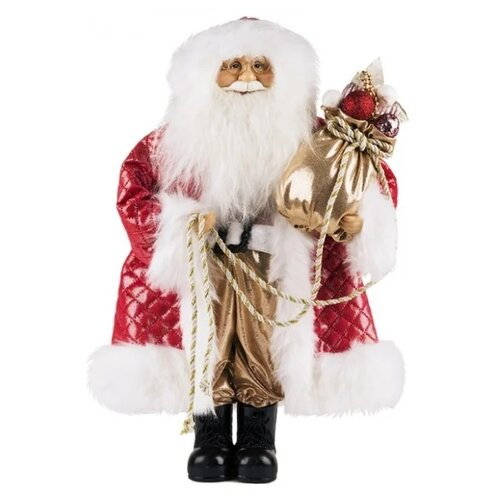 Фигурка Maxitoys Дед Мороз в красной шубе с мешком 46 см красный новогодние украшения maxitoys дед мороз в красной шубе с мешком 32 см