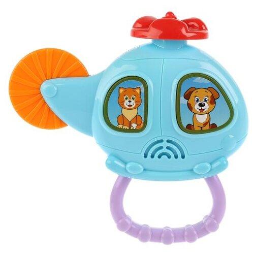Фото - Развивающая игрушка Умка Вертолет с трещеткой голубой автомат с трещеткой 23см наша