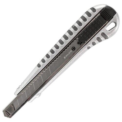 Купить BRAUBERG Нож универсальный Metallic 236971 9 мм серебристый, Ножи канцелярские