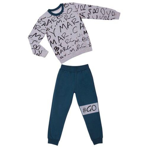 Купить Комплект одежды ALENA размер 116-122, серый/синий/зеленый, Комплекты и форма