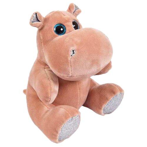 Мягкая игрушка Junfa Toys Бегемотик розовый 15 см