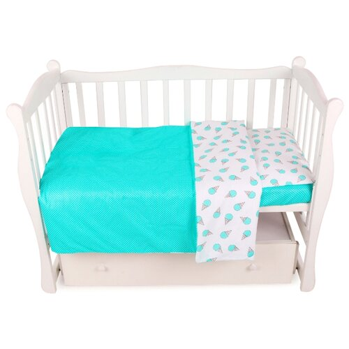 Фото - Amarobaby комплект в кроватку Baby Boom Мороженки (3 предмета) мята amarobaby комплект в кроватку baby boom короны 3 предмета серый
