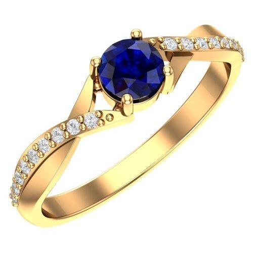 POKROVSKY Женское золотое кольцо со вставками 1100780-00050, размер 17.5