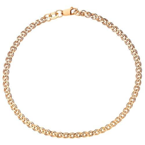 КРАСЦВЕТМЕТ Браслет золотой плетения Нонна НБ12-200ПГ, 21 см, 5.87 г
