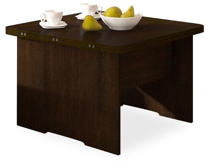 Купить Стол кухонный Форвард-мебель Дебют 5, раскладной, ДхШ: 72 х 72 см, длина в разложенном виде: 144 см, венге темный по низкой цене с доставкой из Яндекс.Маркета (бывший Беру)