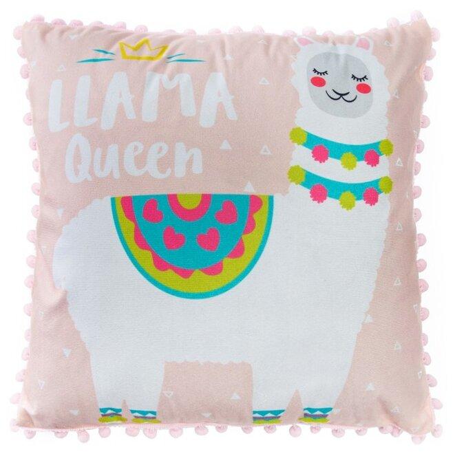 Чехол для подушки Крошка Я Лама 40 х 40 розовый