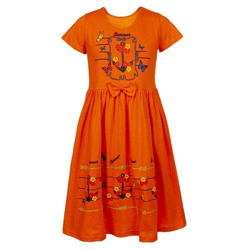 Платье M&D размер 122, оранжевый