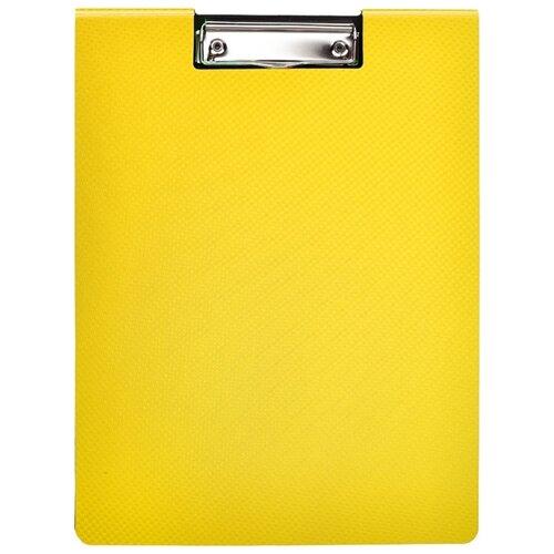 Фото - Attache Папка-планшет с крышкой А4, пластик желтый коробка рыжий кот 33х20х13см 8 5л д хранения обуви пластик с крышкой