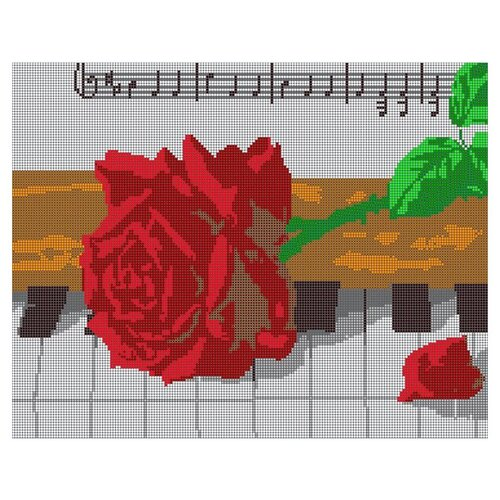 Светлица Набор для вышивания бисером Ноты с розой 38 х 30 см, бисер Чехия (564П)