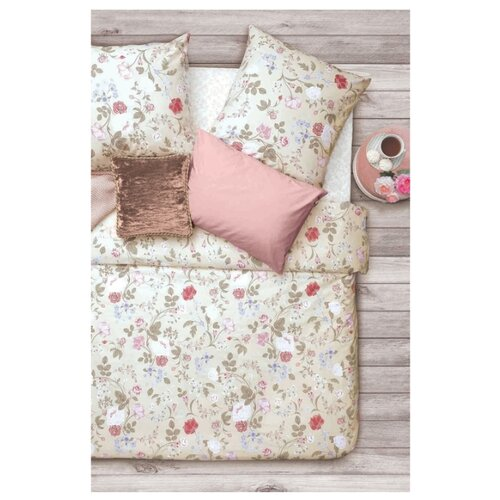 Постельное белье 1.5-спальное Sova & Javoronok Флора 70х70 см, бязь розовый постельное белье 1 5 спальное sova