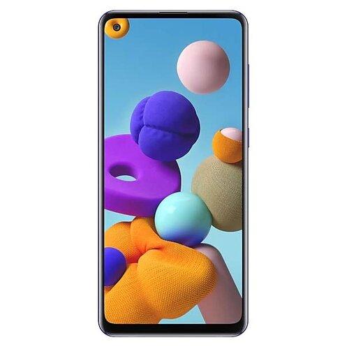 Смартфон Samsung Galaxy A21s 4/64GB синий (SM-A217FZBOSER) смартфон samsung galaxy a50 64gb sm a505f 2019 синий