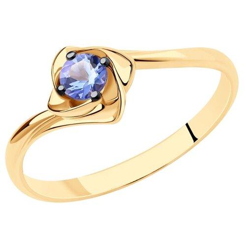 SOKOLOV Кольцо из золота с танзанитом 6014145, размер 17