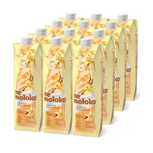 Овсяный напиток nemoloko Ванильное 3.2%, 1 л, 12 шт.