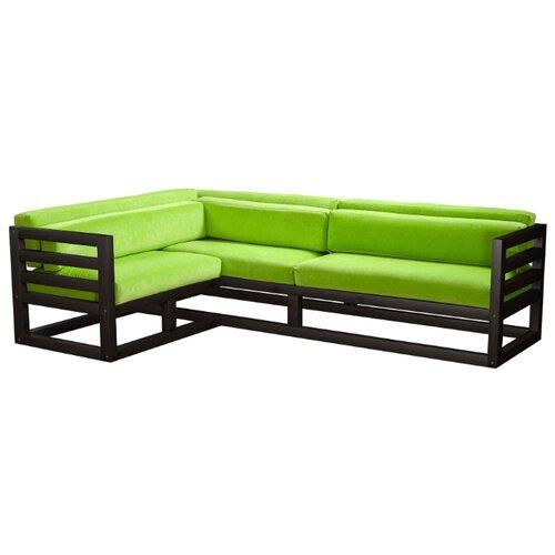 Угловой диван AnderSon Магнус угол: слева, размер: 250х170 см, обивка: ткань, венге/салатовый диван угловой диван магнус магнус