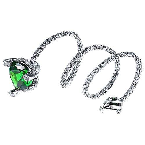 JV Кольцо с стеклом и фианитами из серебра SRT00032-KO-US-001-WG, размер 18 jv кольцо с стеклом и фианитами из серебра se2617 r ko us 001 blk размер 18