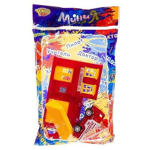 Купить Yako Мини Мания - Пожарная станция М7479 красный, Детские парковки и гаражи