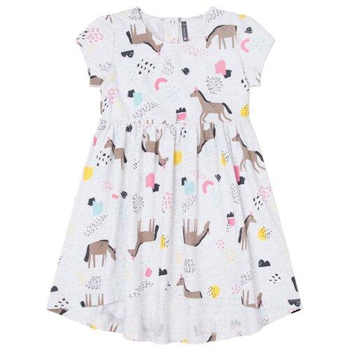 цена Платье crockid размер 104, светло-серый меланж к251 онлайн в 2017 году