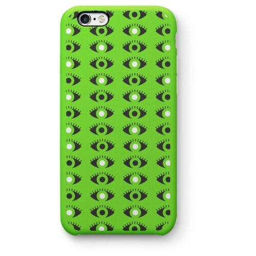 """Чехол для iPhone 7/8/SE 2020 """"Глаза"""" ярко-зелёный"""