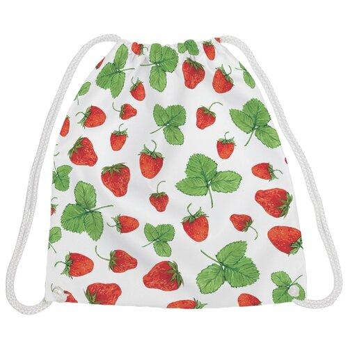 Купить JoyArty Рюкзак-мешок Долина земляники (bpa_30345) белый/зеленый/красный, Мешки для обуви и формы