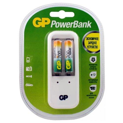 Фото - Аккумулятор Ni-Mh 700 мА·ч GP Rechargeable 700 Series AAA + Зарядное устройство 2 шт блистер аккумулятор ni mh 1000 ма·ч gp rechargeable 1000 series aaa usb светильник 4 шт блистер