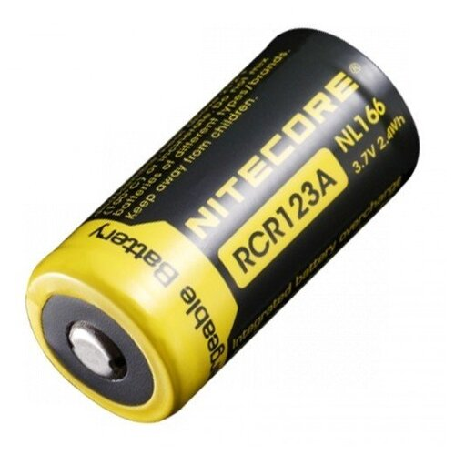Фото - Аккумулятор Nitecore NL166 RCR123/16340 Li-ion 3.7v 650mAh