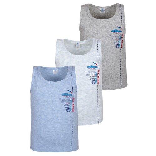 Купить Майка BAYKAR размер 86/92, светло-голубой/голубой/серый, Белье