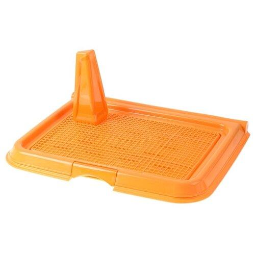 Туалет для собак Сима-ленд 38806133880614388061538806163880617 49х36.5х45 см оранжевый